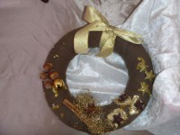 Couronne de Noël chocolat doré (plus disponible)