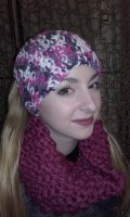 Head Band et snood fushia..